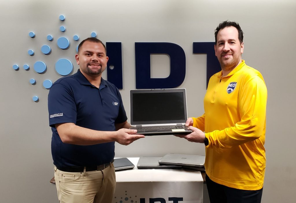 Man accepted donated laptop