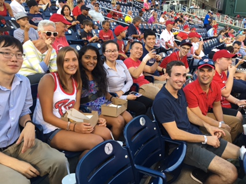 IDT Interns at the Nats Game