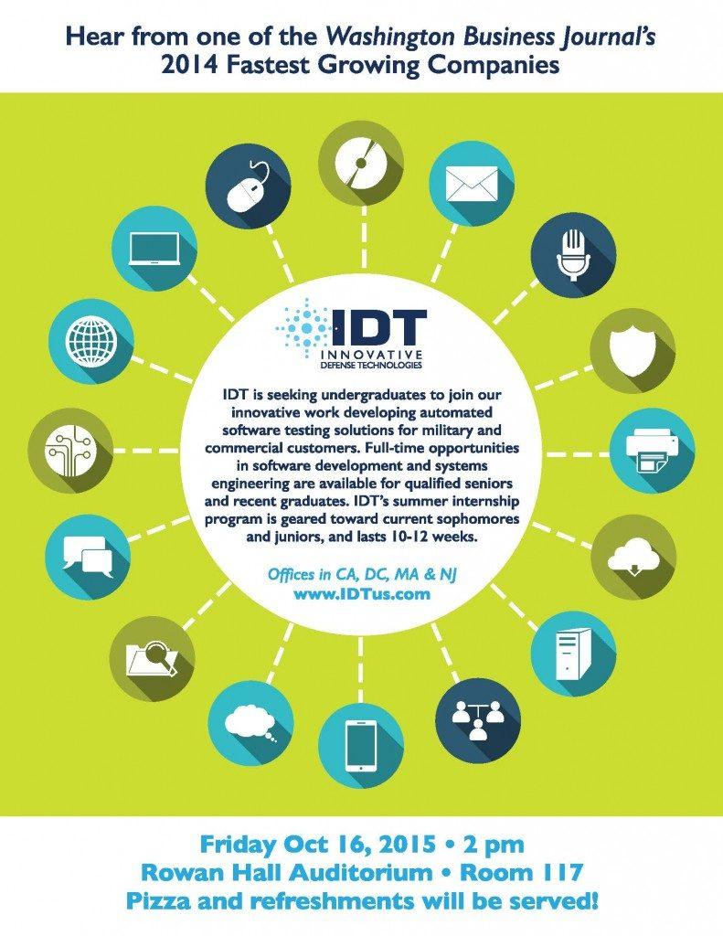 IDT Speaks at Rowan Uniiversity