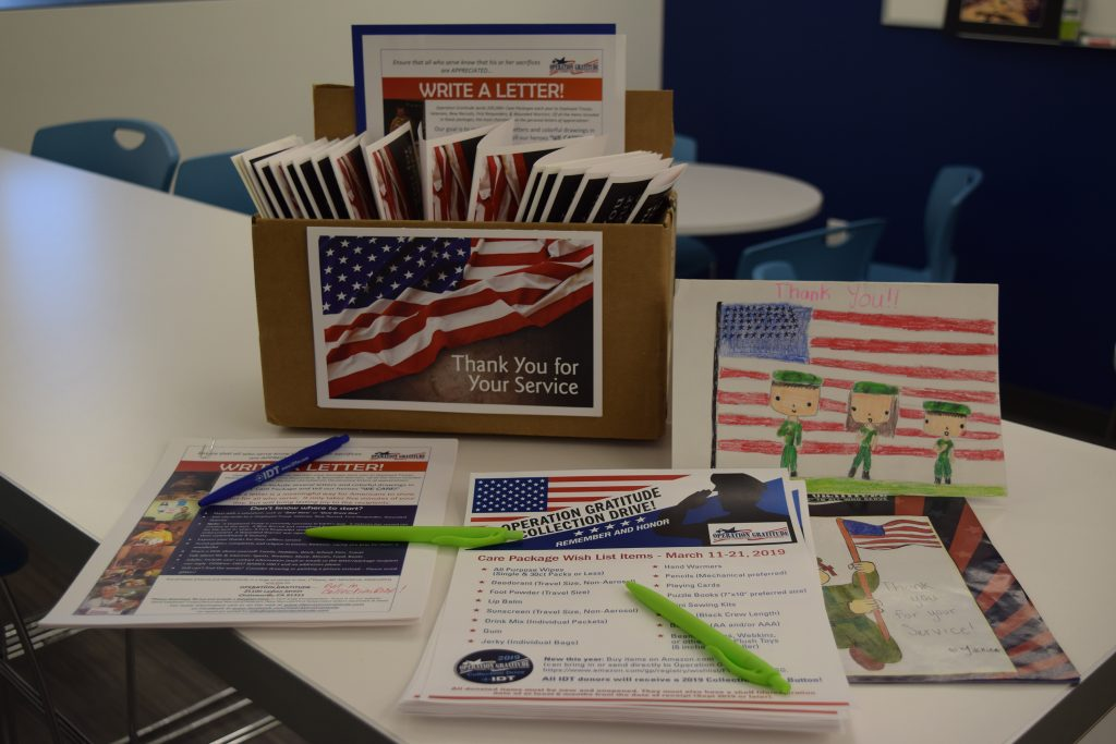 employee letters to military heroes and first responders